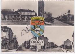 Lucquy (08) Multivues Et Blason (bords Légérement Coupés) - Ohne Zuordnung