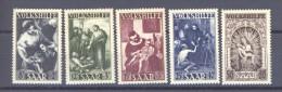 00118  -  Sarre  :  Mi  267-71  ** - 1947-56 Occupation Alliée