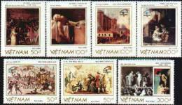 Vietnam MNH Sc 2000-06 Mi 2065-71 Paintings PhilexFrance 1989 - Viêt-Nam
