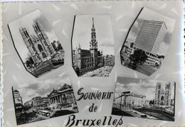 BELGIQUE - Souvenir De BRUXELLES - CPSM -  Vues Multiples - Photo Véritable - Panoramische Zichten, Meerdere Zichten