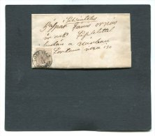 Austria Folded Letter 1857 + Special Mark - Usati