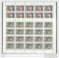 1980 Vaticano Vatican OGNISSANTI  ALL SAINTS 20 Serie Di 2v. In Foglio MNH** Sheet - Nuovi