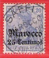 MiNr. 37 O  Deutschland Deutsche Auslandspostämter Marokko - Bureau: Maroc