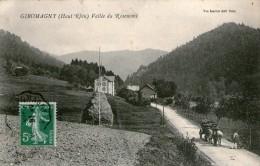 (FC)  CPA Giromagny Vallee Du Rosemont  Pliure Centre De La Carte   (bon état) - Giromagny