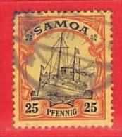 Nr. 11 O  Deutschland Deutsche Kolonie Samoa - Colony: Samoa
