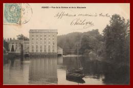 **  Penzé Vue De La Rivière Karten Bost  De1903   (scan Recto Et Verso ) - France