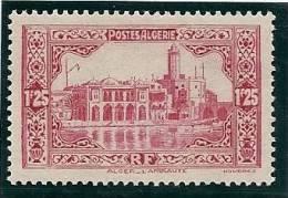 - A.1938 / 41 - ALGERIE - Y.T.n°140 - NEUF - 1f. 25 C. - ROSE CARMINE - L'AMIRAUTE - Neufs