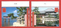 ONU - NAZIONI UNITE GINEVRA MNH - 2001 - World Heritage Sites - Giappone Japan - 1,10 + 1,30 Fr. - Michel NT-GE 415-416 - Office De Genève