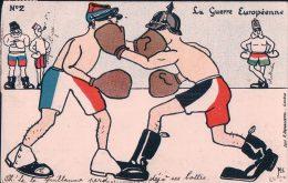 Guerre 14-18, La Guerre Européenne, Humour Par Minouvis, Litho (1002) - Guerra 1914-18