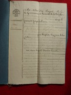 BELGIQUE PAPIER TIMBRE GOUVERNEMENT PROVISOIRE BAIL TERRES LABOURABLES 1831 - Historical Documents