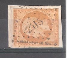 Empire N° 13 Obl Pc 2415 De PERVENCHERES, Orne, Indice 17, Sur Petit Fragment, TB - 1853-1860 Napoleon III