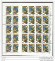 1980 Vaticano Vatican ALESSANDRO MAGNO 20 Serie Di 2v. In Foglio Sheet MNH** - Nuovi