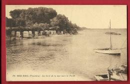 MNP-09  Beg Meil  Bord De La Mer Vers La Forêt. Voilier. Circulé Sous Enveloppe - Beg Meil