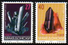 Macedonia 1997 Minerals, Stibnit, Lorandit, Set MNH - Macédoine