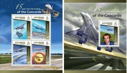 Solomon Island 2015 Concorde Tragedy 15th Aniv Plane Aviation MS+S/S SLM15115 - Non Classés