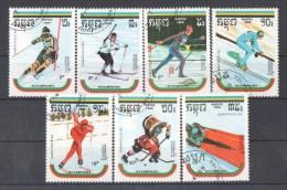 51-152 //  KAMP. - 1989  WINTER OLYMPIC GAMES ALBERTVILLE´92   Mi 1024/30 O - Kampuchea