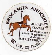 Autocollant Brocante - Antiquités Boutique Etcheverria (cheval De Manége) - Stickers