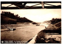 RIEMST - VROENHOVEN (3770) : La Tranchée Du Canal Albert - De Ingraving Van De Albert-Kanaal. CPSM. - Riemst
