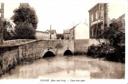 RIEMST - KANNE (3770) : Jeker Met Brug - Geer Avec Pont. Publicité Pour Les Bières Piedboeuf. CPSM. - Riemst