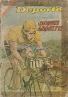 12066 MAGAZINE REVISTA MEXICANAS COMIC ESTRELLAS DEL DEPORTE JACQUES ANQUETIL CICLISTA Nº 16 AÑO 1966 ED NOVARO - Livres, BD, Revues