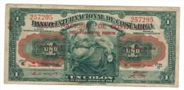 Costa Rica 1 Colon, 1940s, G. See Scan, RARE. - Costa Rica