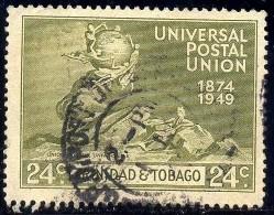 UPU, Universal Postal Union, 75th Anniversary, Trinidad & Tobago Stamp SC#69 Used - Trinité & Tobago (1962-...)