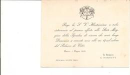 J-GENOVA-INVITO A PRANZO DI GALA OFFERTO DAL SINDACO BARONE ANDREA PODESTA 1894 - Partecipazioni