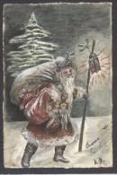6990-BABBO NATALE CON I REGALI PER I BAMBINI-DISEGNATA A MANO-FP - Santa Claus