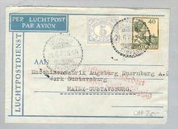 Nederländisch-Indien Soerabaja 1932-06-29 Luftpostbrief NachMainz - Nederlands-Indië