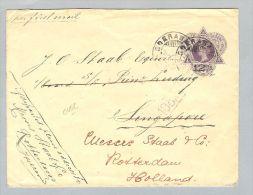 Niederl.Indien 1910-12-30 12 1/2 C Ganzsache Singapur Nach RotterdamNL - Nederlands-Indië