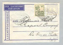 Nederl.Indien Padang 1932-11-01 Luftpost Breif Nach  LaTour De Peilz VD - Niederländisch-Indien