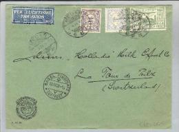 Nederl.Indien Padang 1931-04-02 Luftpost Breif Nach  LaTour De Peilz VD - Indes Néerlandaises