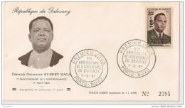Timbre - Afrique - Bénin - Dahomey - PREMIER JOUR - N° 2795 - 1er An. De L´Indépendance - PORTO-NOVO - 1961 - - Bénin – Dahomey (1960-...)