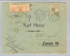 Nederl.Indien Tjilatjap 1923-10-04 R-Brief Nach Adliswil - Nederlands-Indië