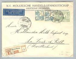 Nederl.Indien Palembang 1931-11-19 Flug-R-Brief In Die CH - Nederlands-Indië