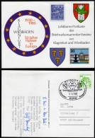 BRD 1980 - Wappen / 50 Jahre Partner In Europa - Klagenfurt Und Wiesbaden - Sonderstempel - Briefe U. Dokumente