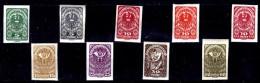 Austria-F-0030 -1919 - Valori della serie, Unificato: n.206/213 (+) TLH - Privi di difetti occulti.