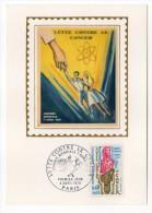 1970--Carte Maximum-Soie--Lutte Contre Le Cancer Signée  Chesnot---cachet PARIS--75 - Cartes-Maximum