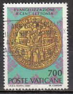 Vatican City   Scott No   783     Used    Year  1987 - Used Stamps