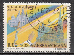 Vatican City   Scott No   C78    Used    Year  1986 - Used Stamps