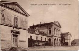 Brazey En Plaine : Mairie Et écoles (Ets C. Lardier, Besançon, CLB ) - Autres Communes