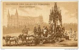SOUVENIR DES GALERIES REMOISES CHAR GOTHIQUE PUB AU DOS  ( LOT V1 ) - Reims
