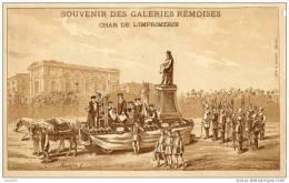 SOUVENIR DES GALERIES REMOISES CHAR DE L IMPRIMERIE PUB AU DOS  ( LOT V1 ) - Reims
