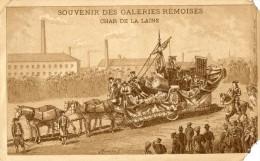 SOUVENIR DES GALERIES REMOISES CHAR DE  PUB AU DOS  ( LOT V1 ) - Reims