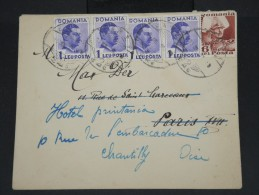 ROUMANIE - Enveloppe De Carei Pour Chantilly En 1936 - Aff Plaisant - à Voir Lot P7428 - 1918-1948 Ferdinand, Charles II & Michael