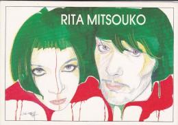 C P M---CHANTEURS--RITA MITSOUKO---illustrateur  JOSE  CORREA---voir 2 Scans - Singers & Musicians
