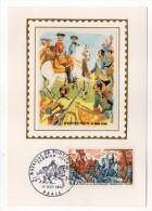 1970--Carte Maximum-Soie-Bataille De FONTENOY(Belgique-LOUIS XV-roi De France )--signée Chesnot---cachet  PARIS--75 - Cartes-Maximum
