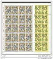 1982 Vaticano Vatican S. AGNESE DI PRAGA 20 Serie Di 2v.: Foglio MNH** Sheet - Nuovi