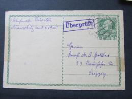 Korrespondenzkarte Stranschitz Strancice - Leipzig Zensur 1915  ///  D*16796 - 1850-1918 Imperium