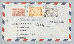 Saudi-Arabien 1955-11-21 R-Brief Nach Niederhuenigen BE CH - Arabie Saoudite